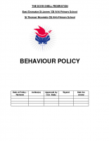 Behaviour Policy (including Anti-Bullying Policy)