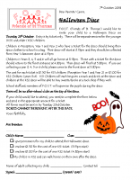 Letter re Halloween Disco October 2018