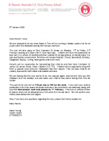 Letter re February Half Term Sports Club 2020