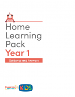 Year 1 Home Learning Pack Guidance and Answers
