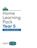 Year 5 Home Learning Pack Guidance and Answers