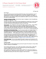 Letter Ref Phased Reopening 22nd May 2020
